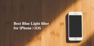 blue light filter iphone