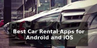 Best car rental app for android and iOS