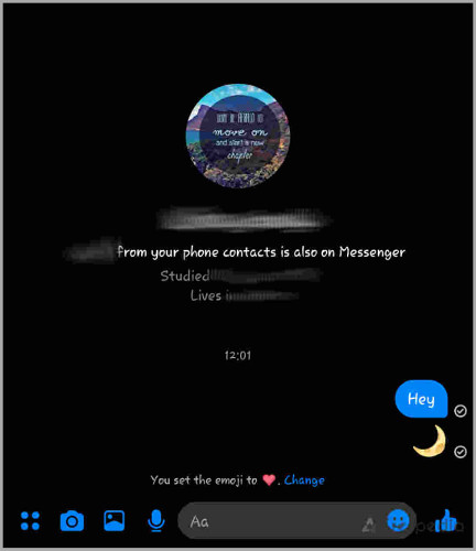 enable dark mode in facebook messenger