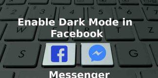 enable dark mode in messenger cover