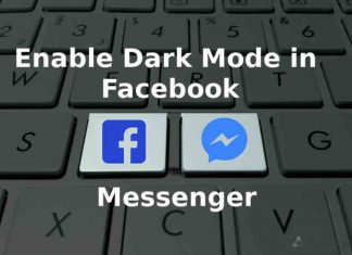 enable dark mode in messenger cover