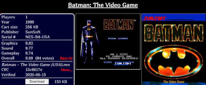 Batman ROM Nintendo
