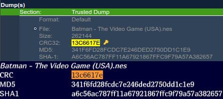 Comparison between Dotomatic Dump & Vimm's ROM