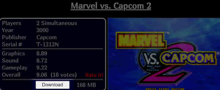 Vimms Roms - Marvel vs Capcom ROM
