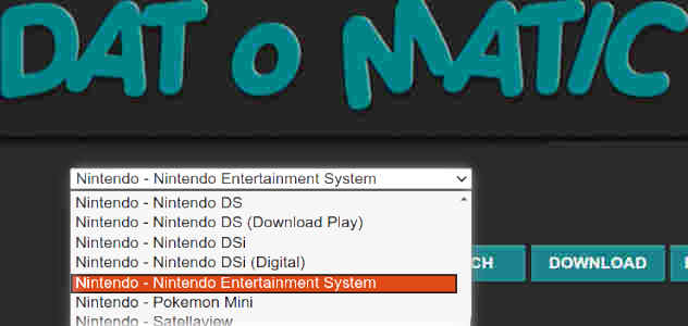 Datomatic - Console selection Menu