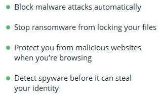 Malwarebyte features