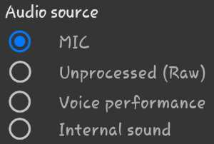 Change internal audio source