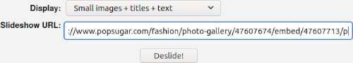 deslider clusterfake URL window