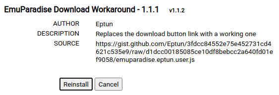 emuparadise install script